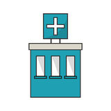 hospital building design. Hospital building icon. Medical and health care theme.  design. Vector illustration Stock Photo