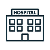 Hospital building front icon Royalty Free Stock Image