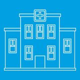 Hospital building icon, outline style Stock Photo