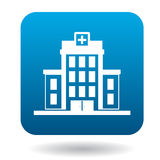 Hospital building icon, simple style Stock Photography