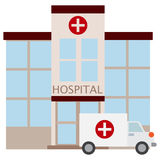 Hospital building icon, vector illustration. Flat style design isolated on white. Colorful graphics vector illustration