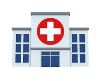 Hospital Building Isolated. On white background. 3D render Stock Photo