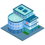 Hospital building isometric Stock Images