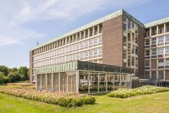 Hospital building Reinier de Graaf Hospital in Voorburg. NETHERLANDS - VOORBURG - JULY 9, 2017: Hospital building Reinier de Graaf Hospital in Voorburg Stock Image
