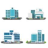 Hospital Building Set Stock Photos