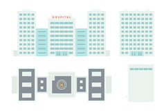 Hospital Building - Template for Creation Axonometric Projection Royalty Free Stock Images