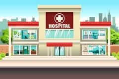 Hospital Building. A vector illustration of Hospital Building vector illustration