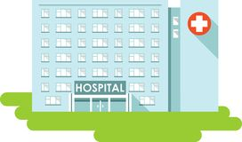 Hospital building on white background Stock Photos