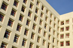 Hospital Building With Many Windows Backdrop. Royalty Free Stock Photos