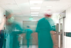 Hospital busy surgery corridor Stock Images