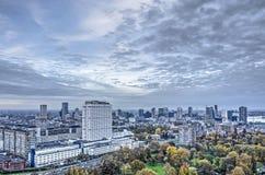 Hospital,city and sky stock image