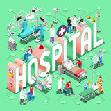 Hospital 01 Concept Isometric Stock Images