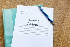 Hospital Consultation Concept - Asthma royalty free stock photo