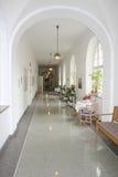 Hospital Corridor. Corridor in an old hospital in Germany stock photos