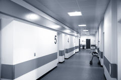 Hospital corridor. Royalty Free Stock Image