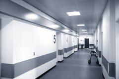 Hospital corridor. Empty Danish hospital corridor at night time Royalty Free Stock Image