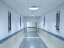 Hospital corridor. Background of hospital interior corridor clinic Stock Photos