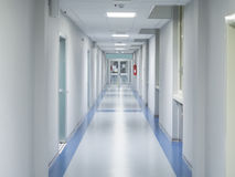 Hospital corridor royalty free stock photography