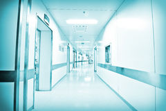 Hospital corridor Stock Photos