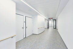 Hospital corridor bright white Stock Photo