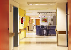 Hospital corridor colorful royalty free stock images