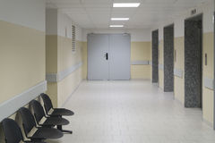 Hospital corridor Royalty Free Stock Photos