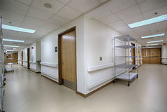 Hospital corridor hallway Royalty Free Stock Images