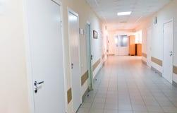 Hospital corridor interior without sicks Stock Photo