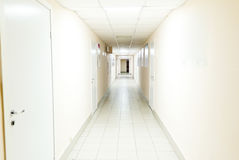 Hospital corridor interior without sicks. Photo of hospital corridor interior without sicks Stock Photography