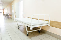 Hospital corridor interior without sicks. Photo of hospital corridor interior without sicks Stock Images