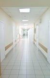 Hospital corridor interior without sicks Stock Image