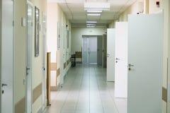 Hospital corridor interior without sicks Royalty Free Stock Image