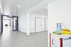 Hospital corridor light stock photos