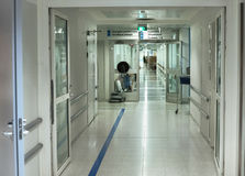 Hospital corridor. With medical equipment Royalty Free Stock Image