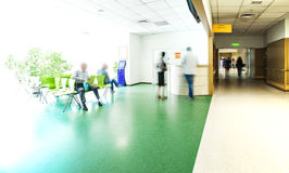 Hospital corridor reception royalty free stock photography