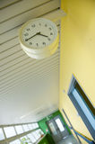 Hospital corridor with watch Stock Photography
