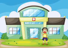 Hospital crying Royalty Free Stock Photo