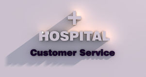 Hospital customer service Royalty Free Stock Image