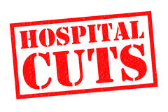 HOSPITAL CUTS Rubber Stamp Royalty Free Stock Photo