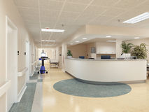 Hospital. 3d rendering Stock Images