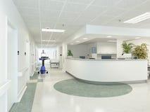 Hospital. 3d rendering Stock Photos