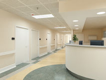 Hospital. 3d rendering Stock Photo