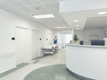 Hospital. 3d rendering Stock Image