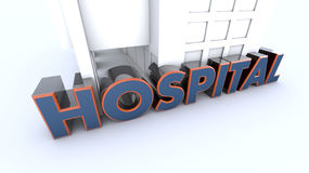 Hospital 3d text Royalty Free Stock Photo