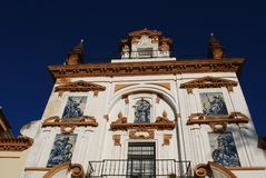 hospital de la凯瑞-戴兹,塞维利亚,西班牙。 免版税图库摄影