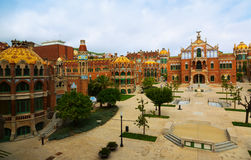 Hospital de la圣诞老人Creu我Sant波城在巴塞罗那 免版税库存图片
