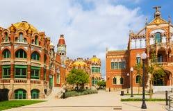 Hospital de la圣诞老人Creu我Sant波城在巴塞罗那 免版税图库摄影