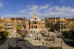 Hospital de la圣诞老人Creu我Sant波城,在巴塞罗那 库存照片