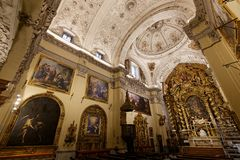Hospital de la caridad church, Seville, spain. A view in SEVILLE, ANDALUSIA, SPAIN, MAY, 26, 2017 : interiors  of  hospital de la caridad church may 26, 2017 in Stock Photo