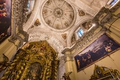 Hospital de la caridad church, Seville, spain. A view in SEVILLE, ANDALUSIA, SPAIN, MAY, 26, 2017 : interiors  of  hospital de la caridad church, may 26 2017, in Stock Photo